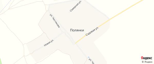 СТ Роща на карте села Полянки с номерами домов
