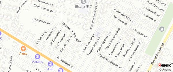 Хасавюртовская улица на карте Гудермеса с номерами домов