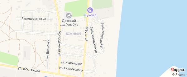 Рыбозаводская улица на карте села Черного Яра с номерами домов