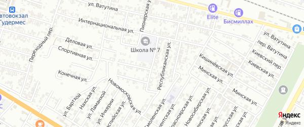 Улица Свердлова на карте Гудермеса с номерами домов
