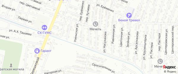 Казахская улица на карте Гудермеса с номерами домов