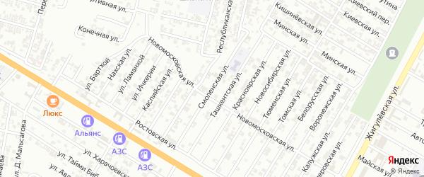 Смоленская улица на карте Гудермеса с номерами домов