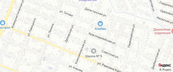 Комсомольская улица на карте Гудермеса с номерами домов