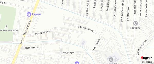 Ялхоймохская улица на карте Гудермеса с номерами домов
