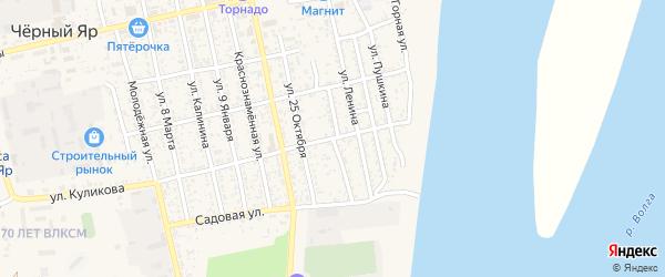 Улица 18 Партсъезда на карте села Черного Яра с номерами домов
