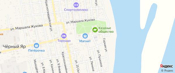 Площадь Ленина на карте села Черного Яра с номерами домов