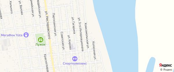 Комсомольская улица на карте села Черного Яра с номерами домов