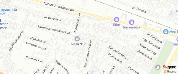 Интернациональная улица на карте Гудермеса с номерами домов