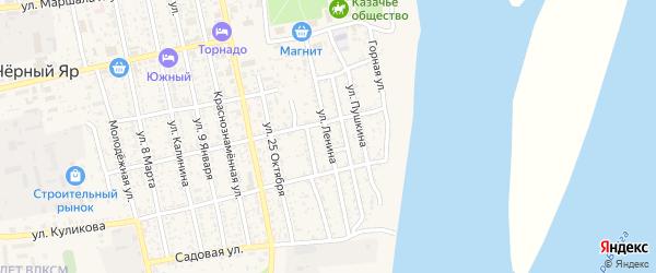 Улица Ленина на карте села Черного Яра с номерами домов