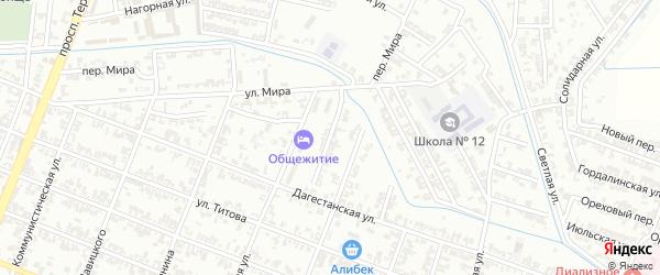 Комсомольский переулок на карте Гудермеса с номерами домов