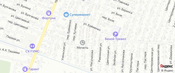 Улица О.Азамтюртовского на карте Гудермеса с номерами домов