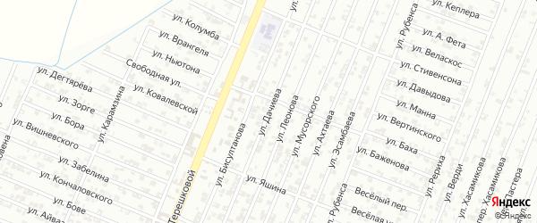 Улица Дачиева на карте села Верхнего Герзель с номерами домов