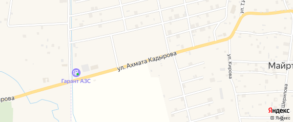 Улица З.А.Кадырова на карте села Майртуп с номерами домов