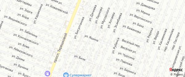 Улица Яшина на карте Гудермеса с номерами домов