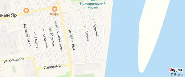 Союзная улица на карте села Черного Яра с номерами домов