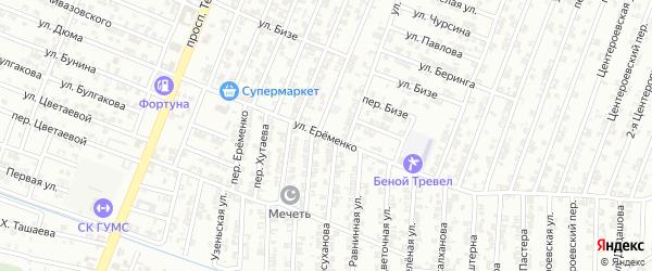 Улица Еременко на карте Гудермеса с номерами домов