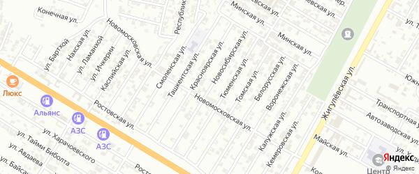 Новосибирская улица на карте Гудермеса с номерами домов
