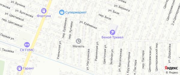 Улица Растрелли на карте Гудермеса с номерами домов
