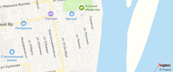 Улица Пушкина на карте села Черного Яра с номерами домов