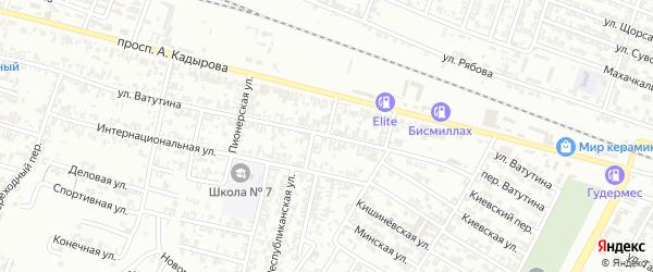 Республиканская улица на карте Гудермеса с номерами домов
