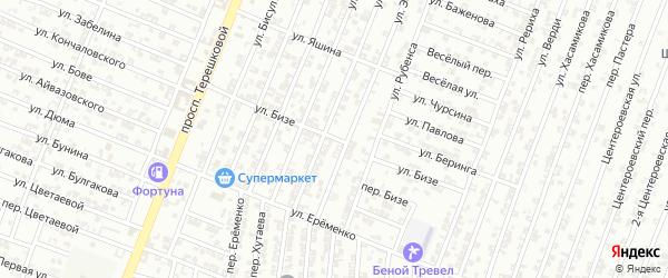 Улица Бизе на карте Гудермеса с номерами домов