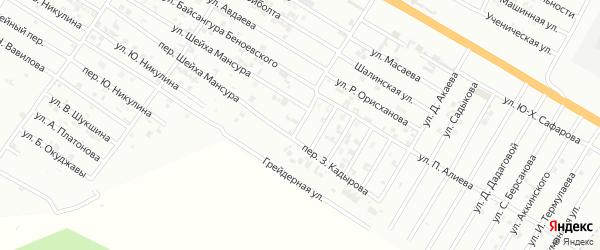 Улица З.Кадырова на карте Гудермеса с номерами домов
