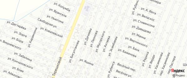Улица Леонова на карте Гудермеса с номерами домов