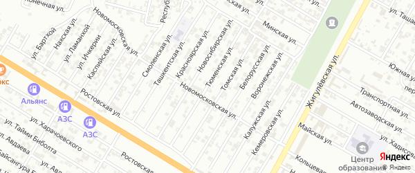 Тюменская улица на карте Гудермеса с номерами домов
