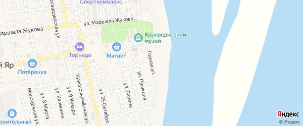 Горная улица на карте села Черного Яра с номерами домов