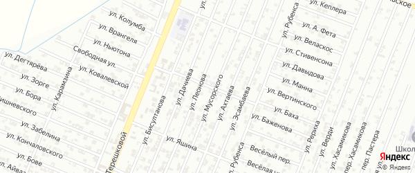 Улица Харламова на карте Гудермеса с номерами домов