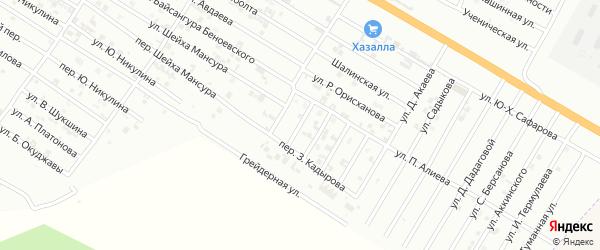 Улица М.Мазаева на карте Гудермеса с номерами домов