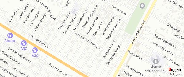 Томская улица на карте Гудермеса с номерами домов
