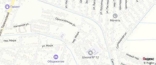 Переулок Мира на карте Гудермеса с номерами домов