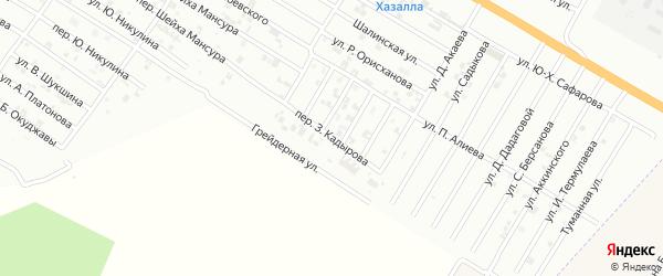 Переулок З.Кадырова на карте Гудермеса с номерами домов