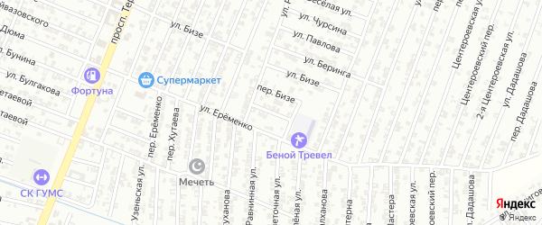 Переулок Нобеля на карте Гудермеса с номерами домов