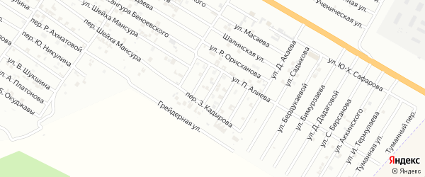 Улица Черкасова на карте Гудермеса с номерами домов