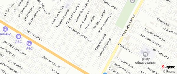 Белорусская улица на карте Гудермеса с номерами домов
