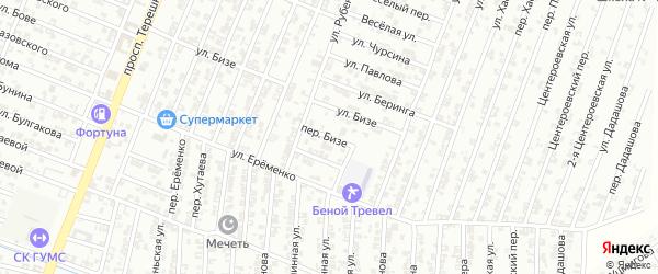 Переулок Бизе на карте Гудермеса с номерами домов