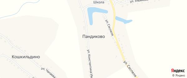 Улица Сеспеля на карте села Пандиково с номерами домов