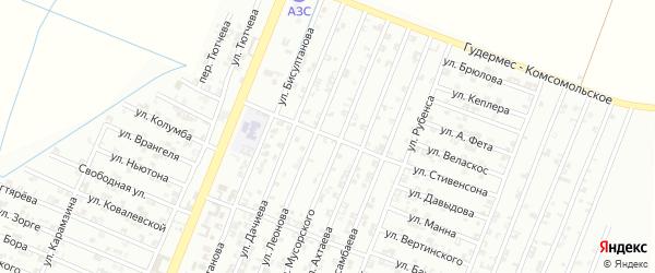 Улица Вагнера на карте Гудермеса с номерами домов