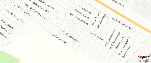 Улица Р.Ильясова на карте Гудермеса с номерами домов