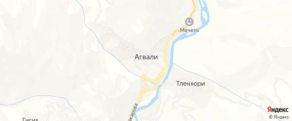 Карта села Агвали в Дагестане с улицами и номерами домов