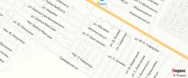 Улица Р.Орисханова на карте Гудермеса с номерами домов