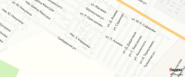 Улица И.Байсултанова на карте Гудермеса с номерами домов