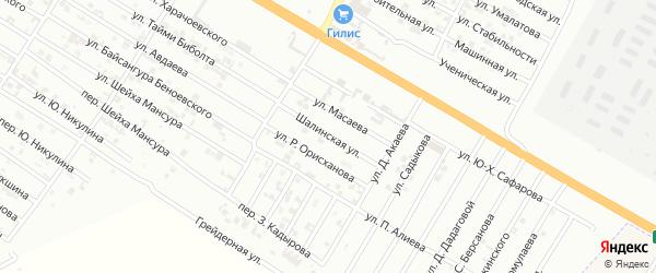 Шалинская улица на карте Гудермеса с номерами домов
