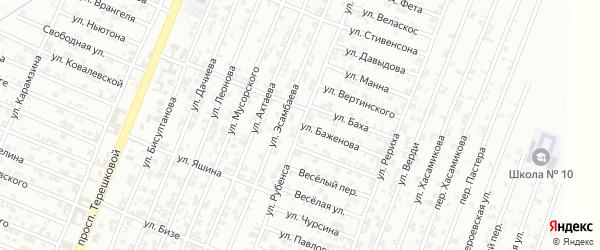 Улица Рубенса на карте Гудермеса с номерами домов
