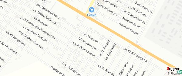 Улица З.А.Масаева на карте Гудермеса с номерами домов