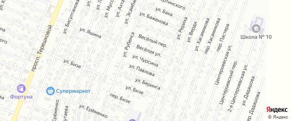 Улица Чурсина на карте Гудермеса с номерами домов
