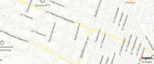 Буйнакская улица на карте Гудермеса с номерами домов