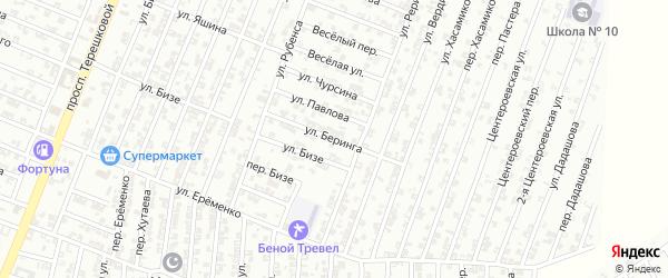 Улица Беринга на карте Гудермеса с номерами домов